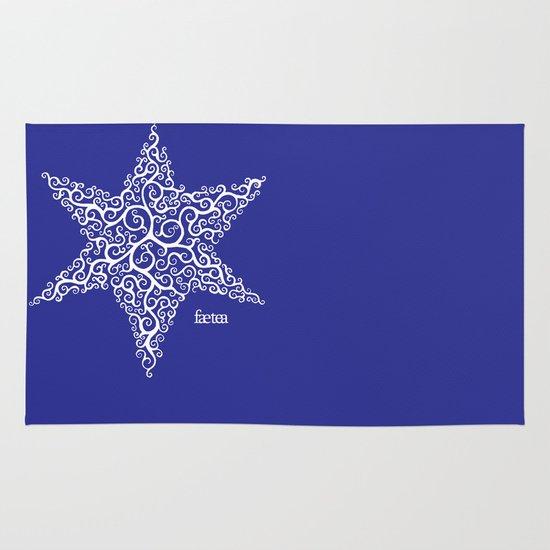 David's Star Area & Throw Rug