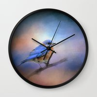 The Happiest Blue - Bluebird Wall Clock