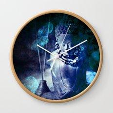 Blue Buddha Wall Clock
