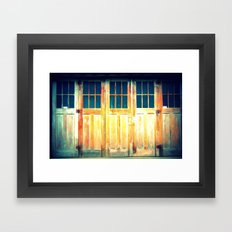 Multiple Doors Framed Art Print
