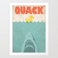 Jaws Rubber Duck Art Print