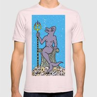 DOLPHIN KING.  (Death Without Porpoise). Mens Fitted Tee Light Pink SMALL