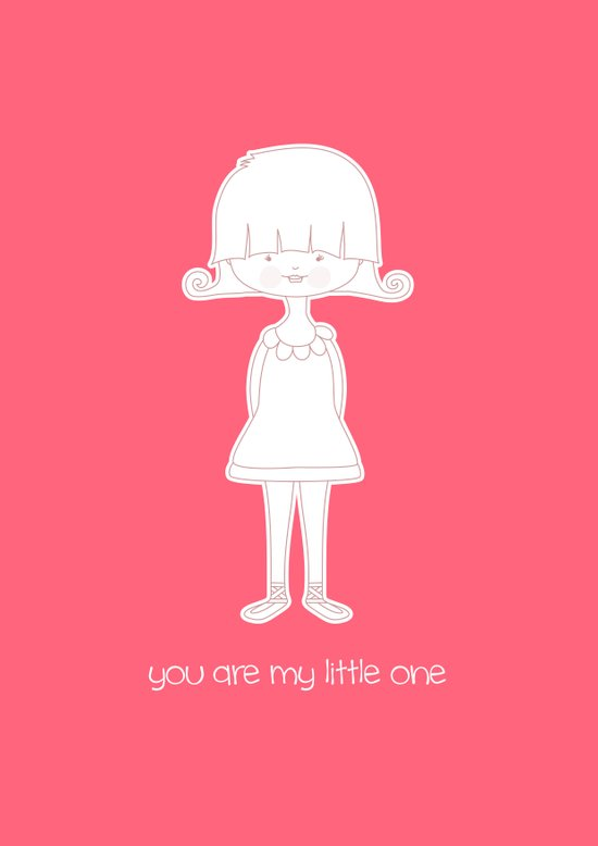 You Are My Little One Girl Art Print