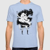 inner spiritz Mens Fitted Tee Tri-Blue SMALL