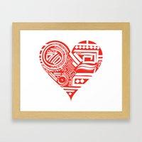 Love Is Deep Framed Art Print