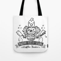 Crazy Clown Tote Bag