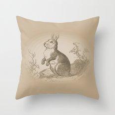 Bunny Rabbit {teddy bear brown} Throw Pillow