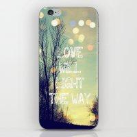 Love Will Light The Way iPhone & iPod Skin