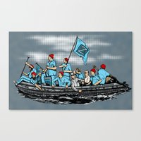 Team Zissou Crossing the Delaware Canvas Print