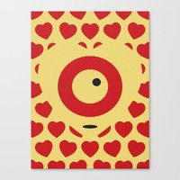 EMPTY HEARTS Canvas Print