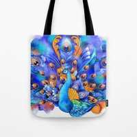 Sapphire And Gold Peacoc… Tote Bag