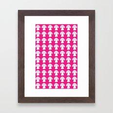 mushroom pink Framed Art Print