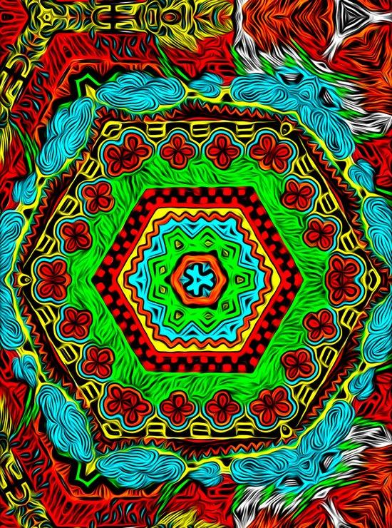 Crazy pattern machine Art Print