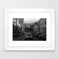 Black and White San Francisco Street Photography Framed Art Print