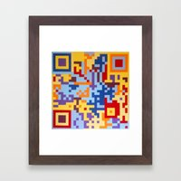 Number Three Multicolour Series  Framed Art Print
