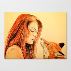 The Girl and the Fox Canvas Print