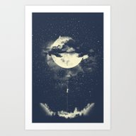 Art Print featuring MOON CLIMBING by Los Tomatos