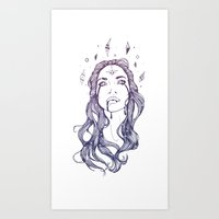 Star Shine || VACANCY Zi… Art Print