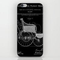 Stroller Patent - Black iPhone & iPod Skin