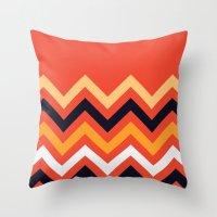 Retro Zigzag Throw Pillow