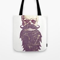 Beard Skull 3 Tote Bag