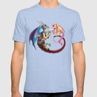 Fluttercord Tea Time Mens Fitted Tee Tri-Blue SMALL