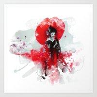 Japanese Geisha Art Print