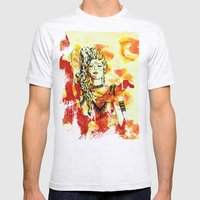 Tribal Beauty 2 Mens Fitted Tee Ash Grey SMALL