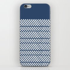 Herringbone Boarder Navy iPhone & iPod Skin