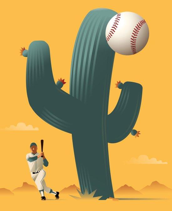 Cactus League Canvas Print