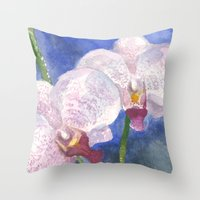 Orchid Gaze Throw Pillow