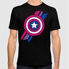 Shield Mens Fitted Tee Black SMALL