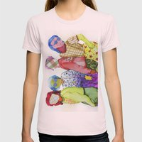 Ladies, Ladies Womens Fitted Tee Light Pink SMALL
