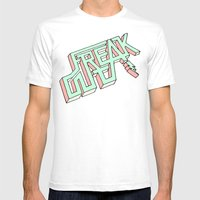 FREAK OUT [MORE] Mens Fitted Tee White SMALL