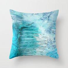 ABSTRACT AQUA COLOURS Throw Pillow