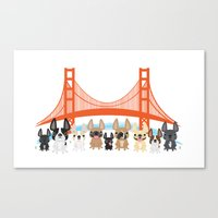 Bay Area Frenchies Canvas Print