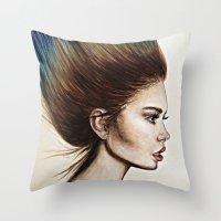 Ombre Hair (Mirror) Throw Pillow