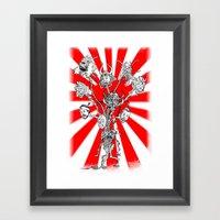 Seppuku Monster Framed Art Print