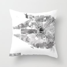 Star Wars Vehicle Millennium Falcon Throw Pillow