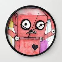 Robot Rage  Wall Clock