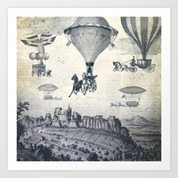 Carrilloons Over The Cit… Art Print
