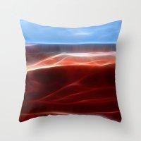 Artistic red Desert Throw Pillow