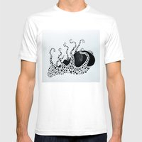 Octopus 002 Mens Fitted Tee White SMALL