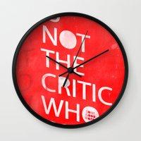 The Critic Wall Clock
