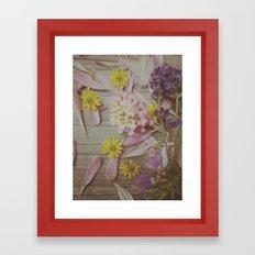 Vintage Floral Joy Framed Art Print