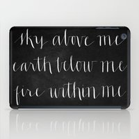 Fire Within Me // White on Black iPad Case