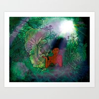 Bayou Mermaid Art Print