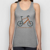 Orange Bike Unisex Tank Top