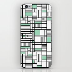 Map Lines Mint iPhone & iPod Skin