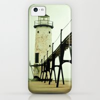 iPhone 5c Cases featuring Manistee Light by Olivia Joy StClaire